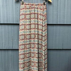 Beautiful Summer Maxi Skirt Silky and Flowy